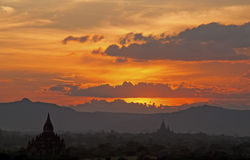 Bagan sunset3 Stock Fotografie