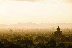 Bagan. Sunset at Bagan Myanmar. Bagan is an ancient city located in the Mandalay Region of Burma. From the 9th to 13th centuries, the city was the capital of the Royalty Free Stock Photography