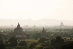 Bagan. Sunset at Bagan Myanmar Stock Images