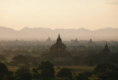 Bagan. Sunset at Bagan Myanmar. Bagan is an ancient city located in the Mandalay Region of Burma. From the 9th to 13th centuries, the city was the capital of the Royalty Free Stock Photos