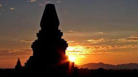 Bagan in the Sunset Light royalty free stock photography