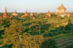 Bagan at Sunset, Myanmar. Royalty Free Stock Photos