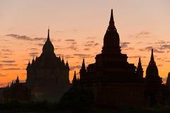 Bagan at Sunset, Myanmar. Stock Photo