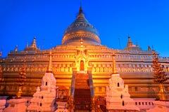 Bagan at Sunset, Myanmar. Royalty Free Stock Images