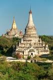 Bagan at Sunset, Myanmar. Royalty Free Stock Photography