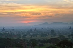 Bagan sunset, Myanmar Royalty Free Stock Images