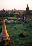 Bagan at Sunset, Myanmar. Stock Image