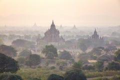 Bagan in the sunset, Myanmar Stock Photo