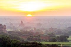Bagan Sunset in Myanmar Nov 2014 Royalty Free Stock Photography