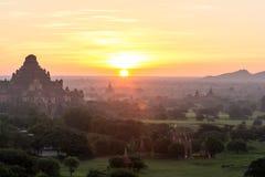 Bagan Sunset in Myanmar Nov 2014 Royalty Free Stock Photo