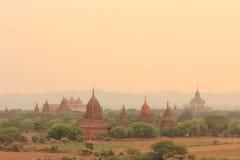 Bagan sunset. Sunset at Bagan ,1st capital of Myanmar , Ancient pagodas view Royalty Free Stock Image