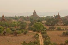 Bagan. Sunset at Bagan ,1st capital of Myanmar , Ancient pagodas view Royalty Free Stock Photo