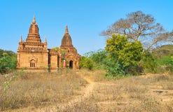 Bagan-Tempel mit schöner Dekoration, Myanmar Lizenzfreies Stockfoto