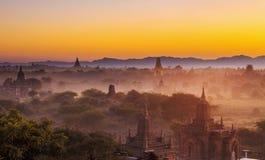Bagan temple during golden hour Stock Photos