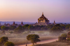 Bagan temple during golden hour Royalty Free Stock Photography