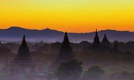 Bagan temple during golden hour Royalty Free Stock Photos