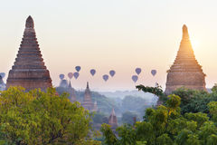 Bagan temple during golden hour Stock Image