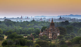 Bagan temple during golden hour Royalty Free Stock Image