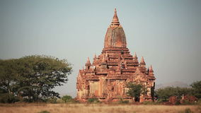 Bagan Temple People stock footage