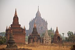 Bagan temples. Some old, ancient Buddhist temples in Bagan, Burma Stock Photos