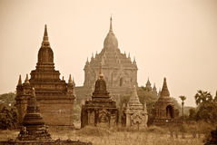 Bagan temples Royalty Free Stock Photos