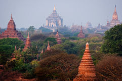 Bagan temples Myanmar Royalty Free Stock Images