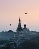 Bagan temples at sunrise, Myanmar Stock Photo