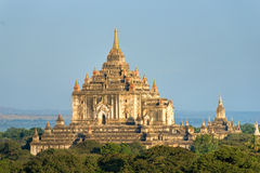 Bagan, Thatbyinnyu temple after sunrise, Myanmar. Stock Images