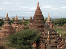 Bagan valley. Valley of thousands buddhist pagodas in Bagan, Burma Royalty Free Stock Image