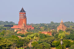 Bagan viewing tower Stock Image