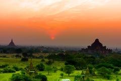 Bagan was named the city of the sea pagoda, Burma. Royalty Free Stock Photo