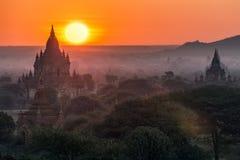 bagan wschód słońca Obrazy Royalty Free