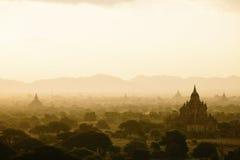 Bagan Zmierzch przy Bagan Myanmar fotografia royalty free