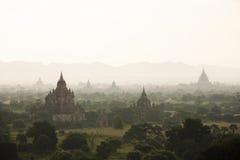 Bagan Zmierzch przy Bagan Myanmar obrazy stock