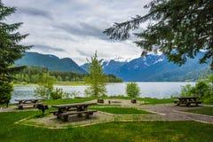 Bagare Lake Campsite Royaltyfri Foto