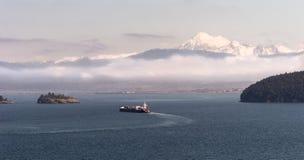 Bagare Oil Tanker för Mt för skeppPuget Sound Stilla havet Royaltyfria Foton
