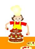 bagarecake Royaltyfri Illustrationer