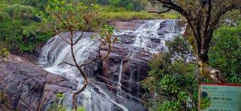 Bagares vattenfall av Sri Lanka royaltyfri foto
