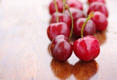 Bagas da cereja doce fresca madura Fotografia de Stock Royalty Free