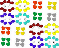 Bagas de cores diferentes Foto de Stock