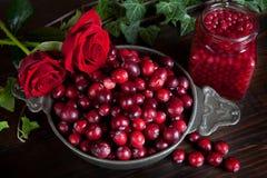 Bagas e rosas da acção de graças Fotos de Stock