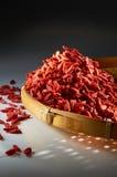 Bagas secadas vermelhas de Goji Fotos de Stock Royalty Free