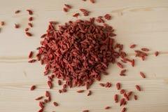 Bagas vermelhas de Goji Fotos de Stock