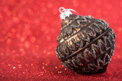 Bagattella d'annata della decorazione di natale festivo Immagini Stock