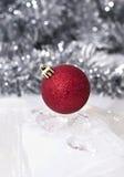 Bagattella rossa di Natale Fotografia Stock