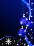 Bagattelle blu di natale royalty illustrazione gratis