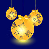 Bagattelle - decorazione dell'albero di Natale illustrazione di stock