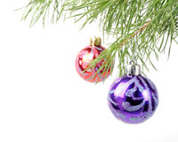 Bagattelle dell'albero di Natale Fotografie Stock