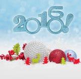 Bagattelle della palla di Natale Fotografia Stock Libera da Diritti