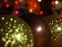 Bagattelle di Natale con scintillio Fotografia Stock Libera da Diritti
